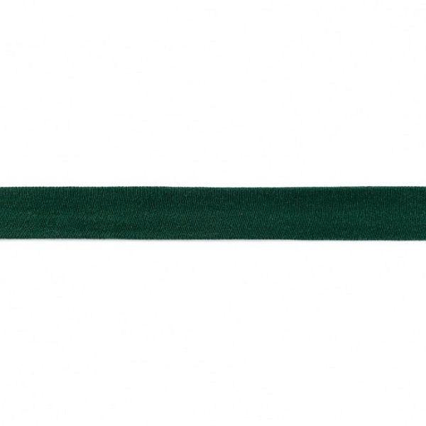 Baumwolljersey Schrägband Breite 20mm Flaschen-Grün