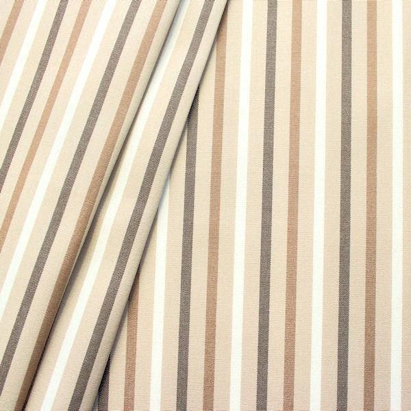 """5,00 Meter - In- / Outdoorstoff Artikel Acrisol """"Streifen Mix 2"""" Farbe Beige-Braun"""