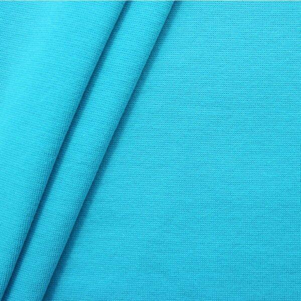 "Baumwoll Bündchenstoff ""glatt"" Farbe Türkis-Blau"