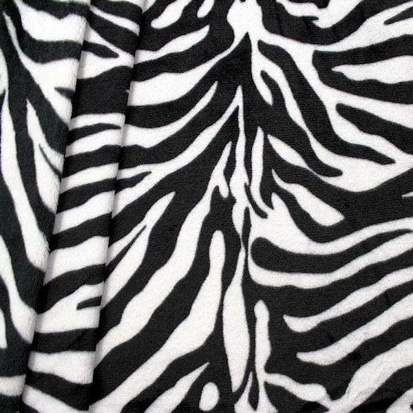 Wellness Fleece Zebra Schwarz-Weiss