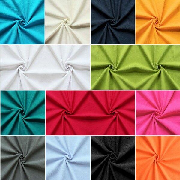 Musterkarte DIN A4 - Baumwoll Stretch Jersey Basic 2