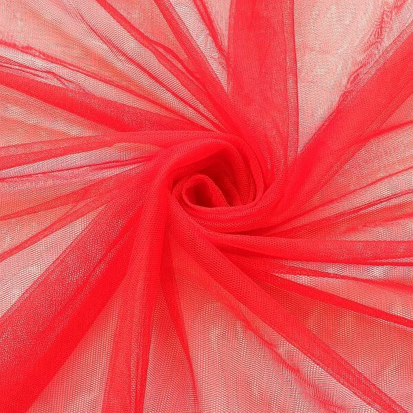 Braut Tüll Soft Touch Rot