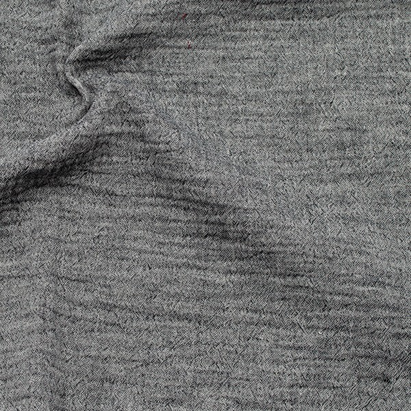 Baumwolle Musselin Double Gauze Melange Schwarz