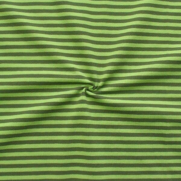 "Baumwoll Stretch Jersey ""Classic Ringel 2"" Farbe Lind-Grün Oliv"