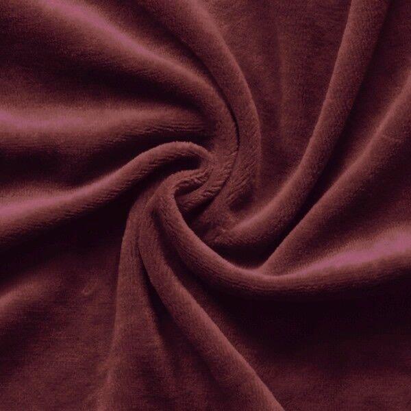 Nicki Baumwollstoff Farbe Weinrot