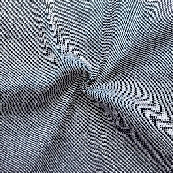 Leinen-Viskose Stoff Denim Style Jeans-Blau Weiss