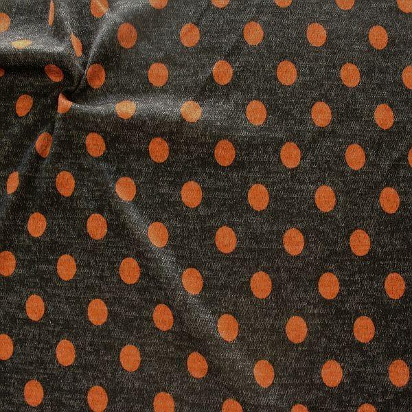 Jacquard Strick Jersey Dots Anthrazit-Rost