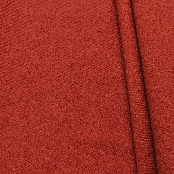 Polsterstoff Möbelstoff Filzoptik Rost-Rot
