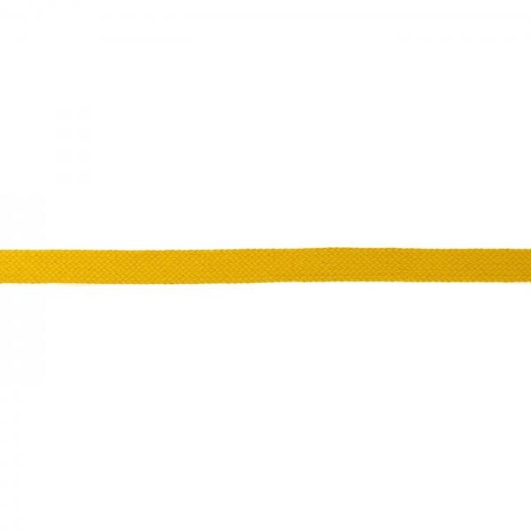 Flachkordel Hoodieband 17mm Farbe Senf-Gelb