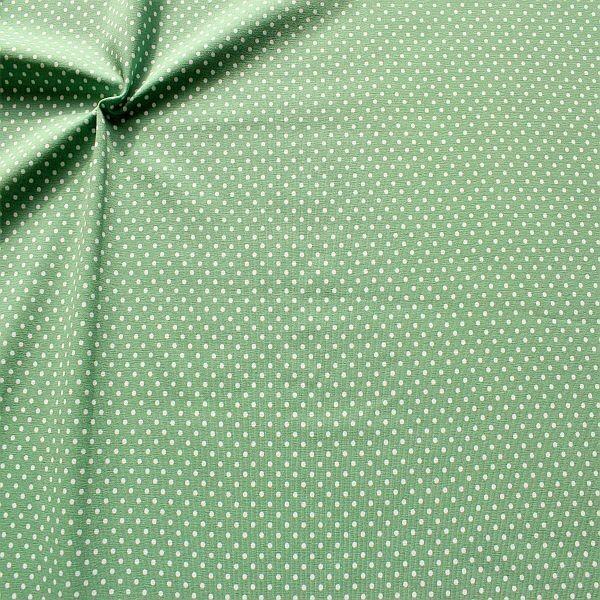 Baumwoll Stretch Jersey Punkte Klein Mint-Grün