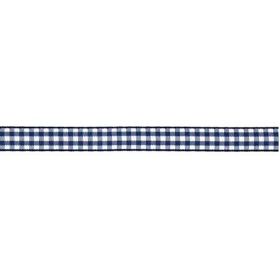 Prym Dekoband kariert 10mm x 4m (Breite / Länge) marineblau / weiss