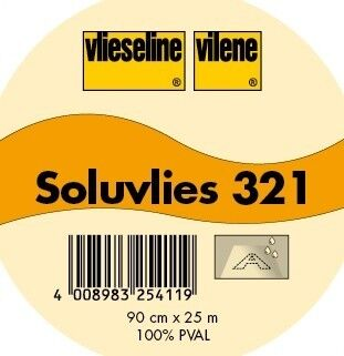 Vlieseline Soluvlies Stick- / Kreativvlies Typ 321 Weiss-Transparent