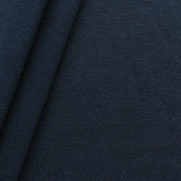 Baumwoll Bündchenstoff glatt Dunkel-Blau