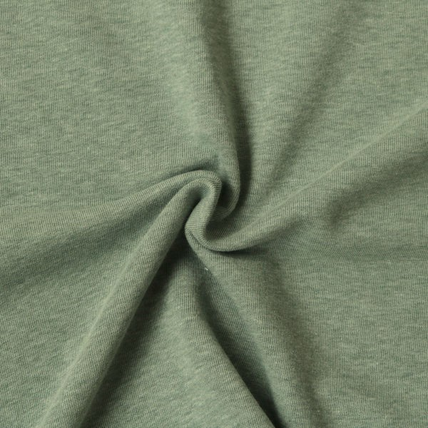 Sweatshirt Baumwollstoff Melange Mint-Grün