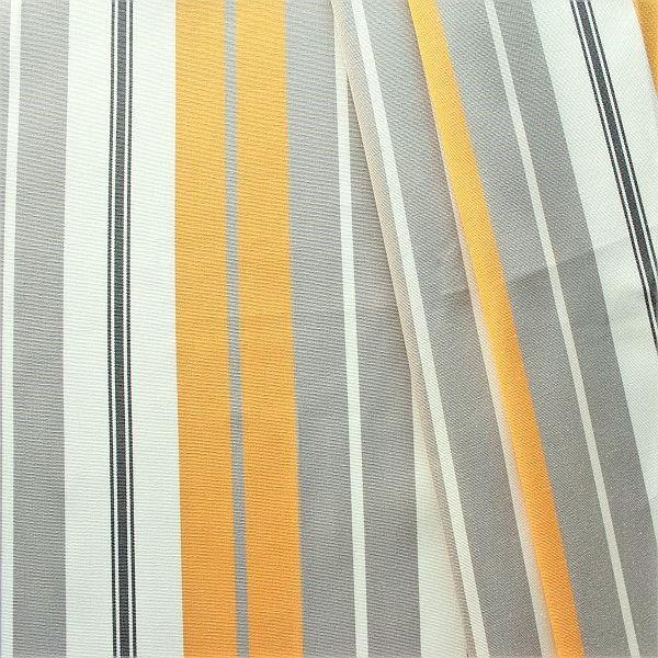Dekostoff Outdoorstoff Streifen Mix Gelb-Grau