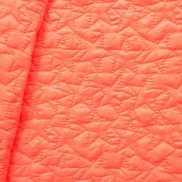 """Steppstoff wattiert """"Sterne-Stepp"""" Farbe Neon-Orange"""