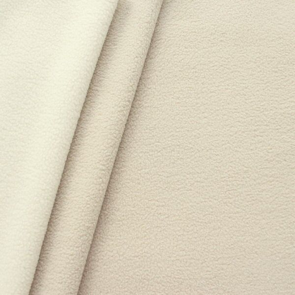 Doubleface Fleece Hell-Beige Creme-Weiss