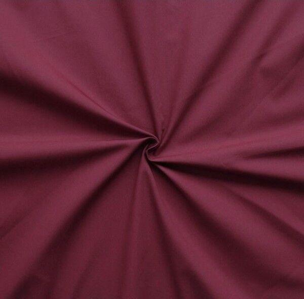 "100% Baumwolle Popeline ""Fashion Standard 2"" Farbe Weinrot"