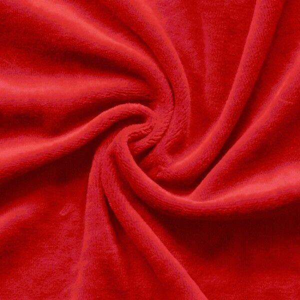 Nicki Baumwollstoff Farbe Rot