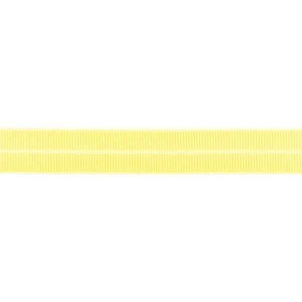 Elastisches Einfassband gerippt Blass-Gelb