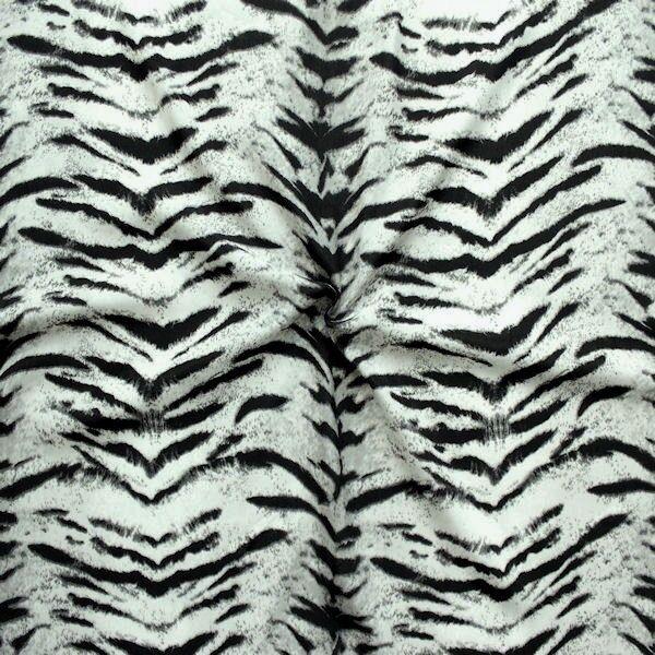 Modestoff Tiger Look Grau-Schwarz