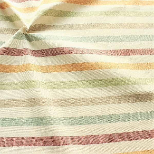 Dekostoff Leinen Optik Querstreifen Five-Color Ecru