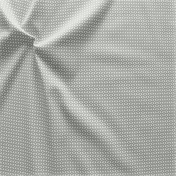 Baumwollstoff Modern Blossom Grau-Weiss
