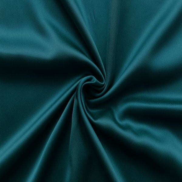Stretch Satin Petrol
