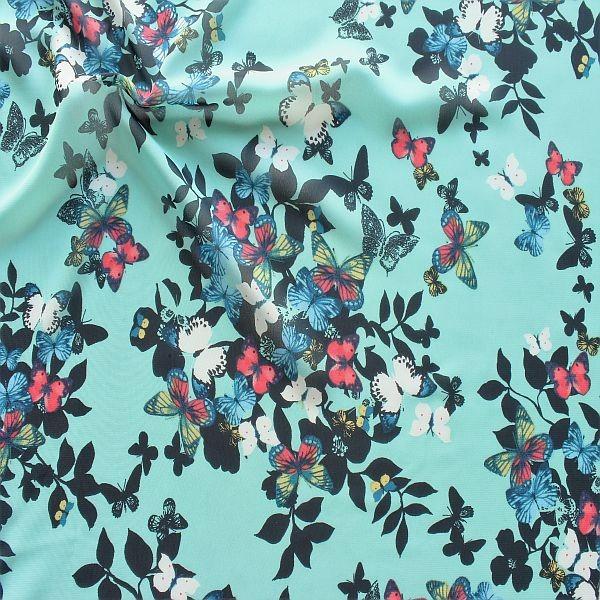 Chiffon Schmetterlinge Türkis