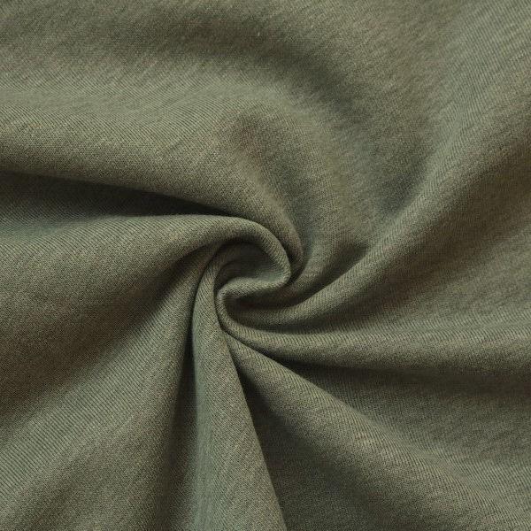 Sweatshirt Baumwollstoff Melange Khaki-Grün