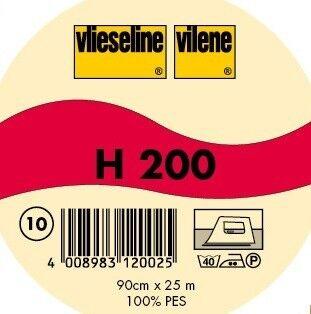 Vlieseline leichte fixierbare Bügeleinlage Typ H 200 Farbe Weiss