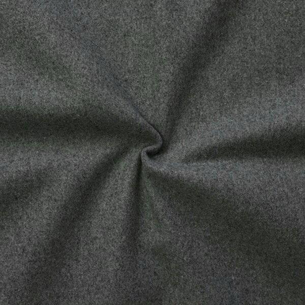 Wollstoff Winter Basic Dunkel-Grau