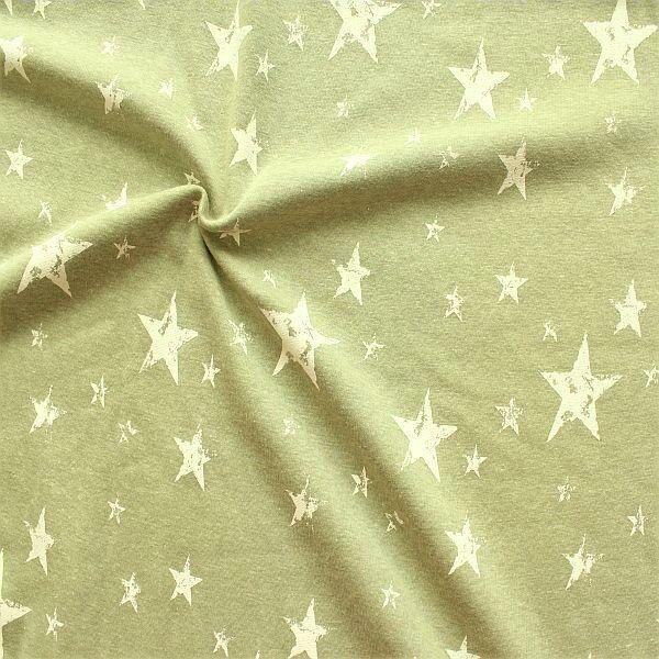 Alpenfleece Sweatshirt Vintage Stars Grün