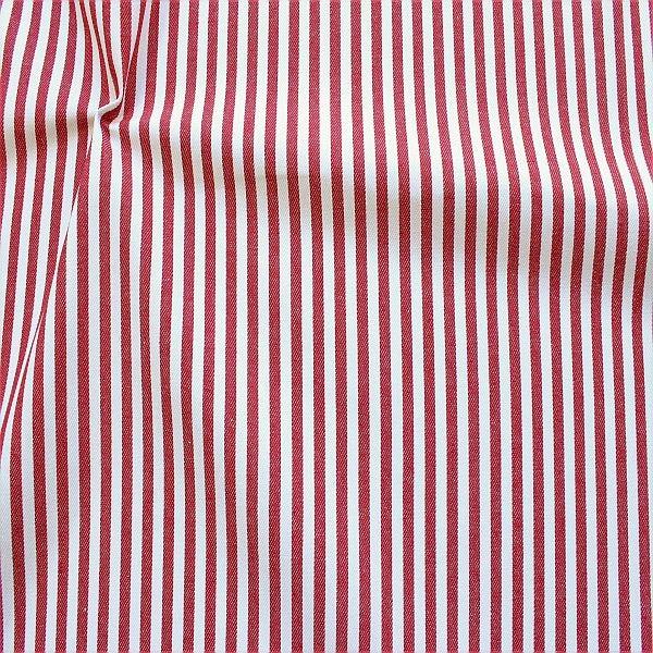 Baumwolle Denim Jeans Stoff Streifen Mittel Rot-Weiss
