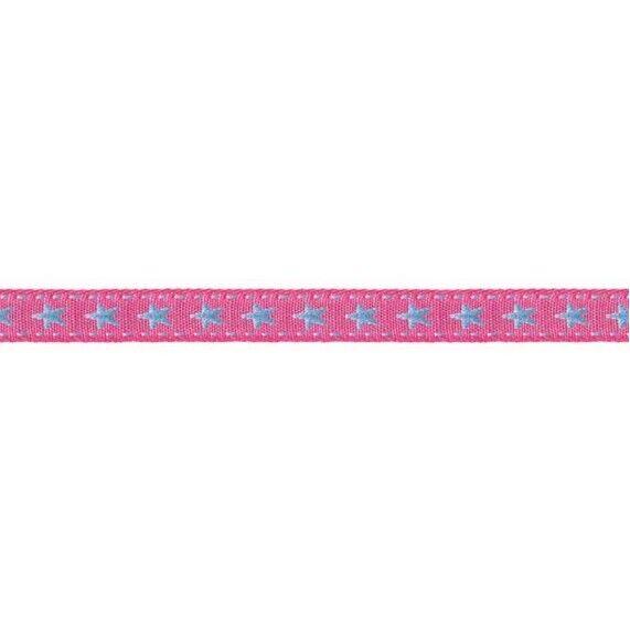 Prym Borte mit Stern 10mm x 2m (Breite / Länge) pink / blau