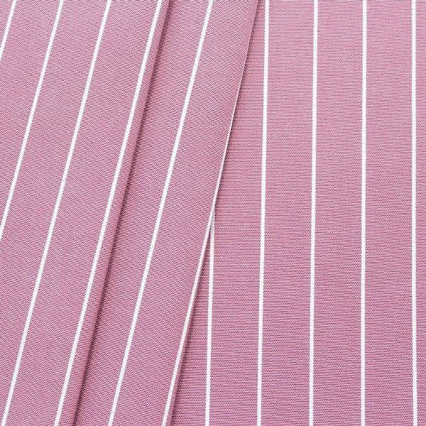 "Deko / Outdoorstoff ""Streifen fein"" Farbe Rosé melange"