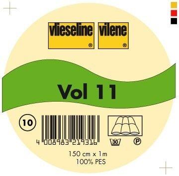 Vlieseline leichtes Volumenvlies Typ VOL 11 einnähbar Farbe Weiss
