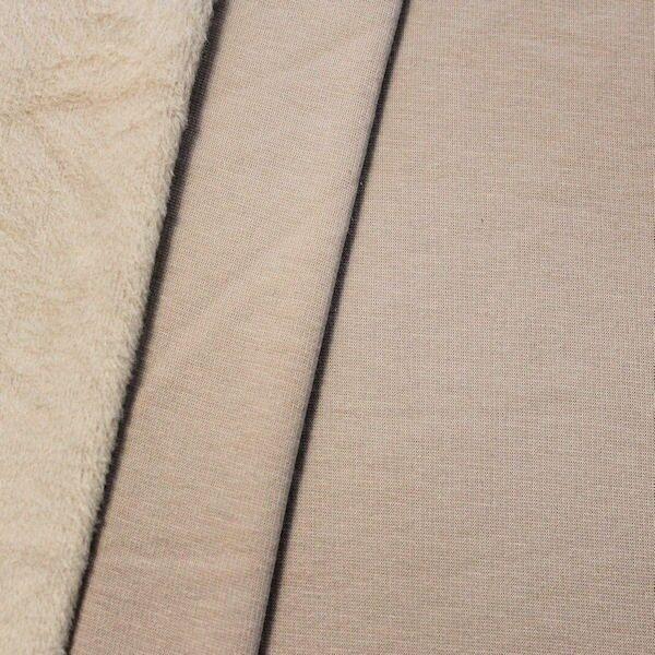 Alpenfleece Sweatshirt 3 Farbe Beige melange