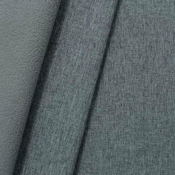 "Softshell Fleece Stoff ""Melange"" Farbe Mittel-Grau"