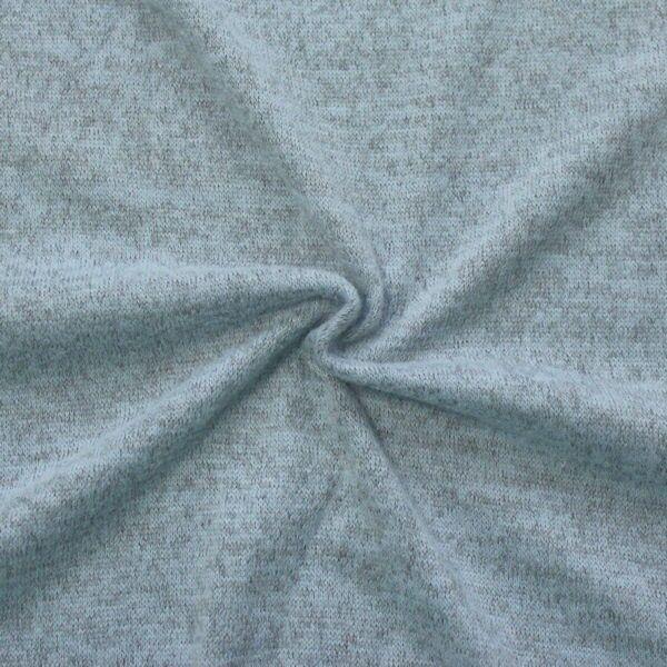 Feinstrick Jersey Hell-Blau meliert