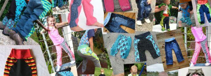 Ganz viele selbstgenähte MiniBix Kinderhosen