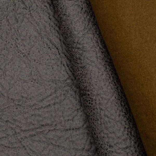 Microfaser Polsterstoff Büffel Optik 3 Dunkel-Grau