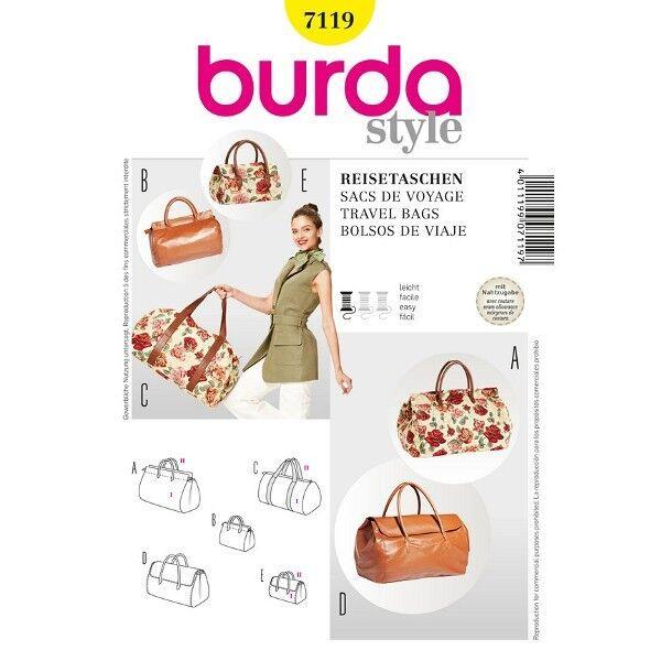 Reisetaschen, klein - groß, Schnittmuster Burda 7119