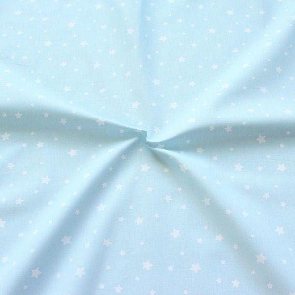 Baumwollstoff Sterne Mix Hell-Blau