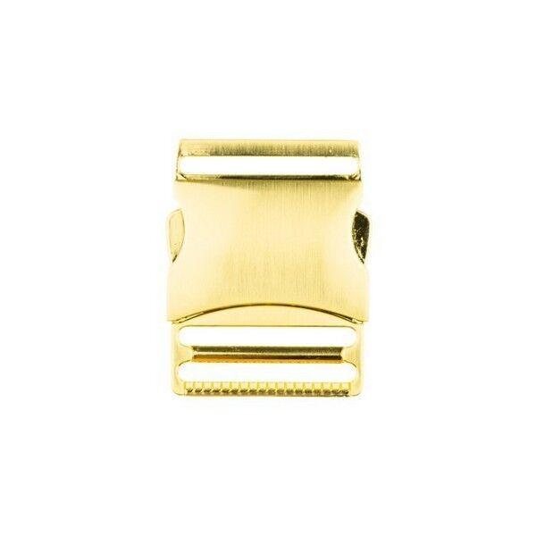 Metall-Steckschnalle 40mm Farbe Gold