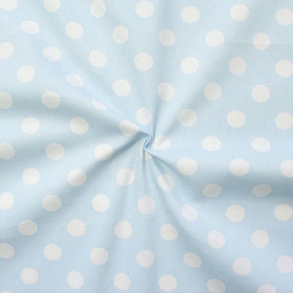 "100% Baumwolle Köper ""Fashion Dots"" Farbe Hell-Blau"
