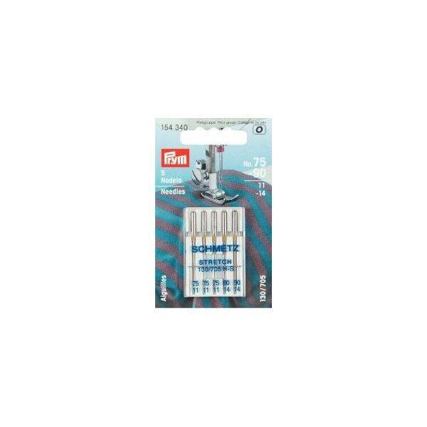 Prym Sortiment Spezial Nähmaschinennadeln mit Flachkolben STRETCH 75-90