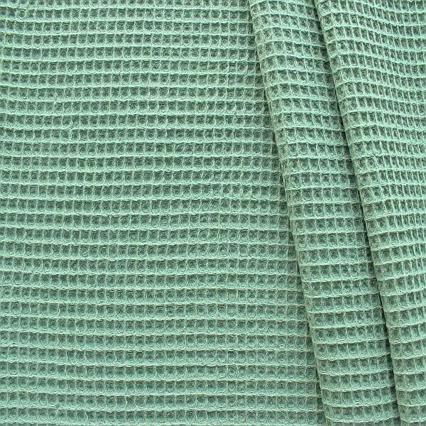 Baumwolle Waffel Piqué Mint-Grün