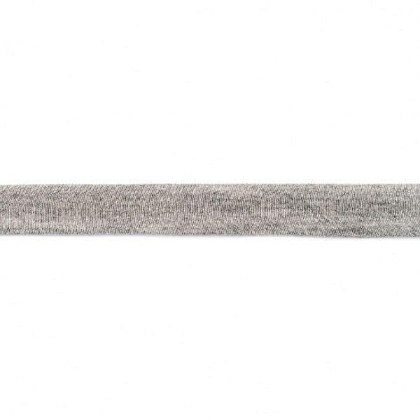 Baumwolljersey Schrägband Breite 20mm Farbe Hell-Grau meliert