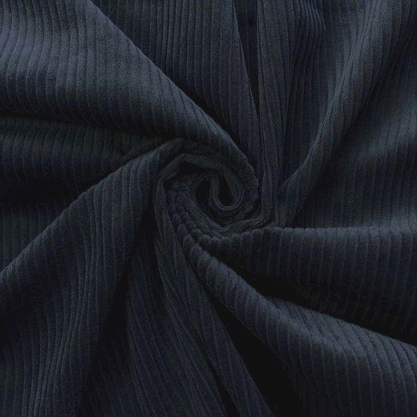 Baumwollstoff Breitcord Klassik Dunkel-Blau